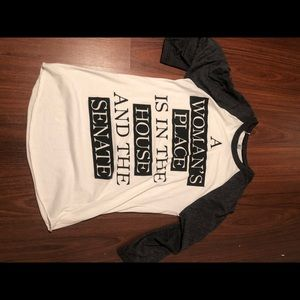 Size Small Women's Baseball Tee Political Saying